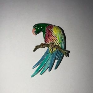 Tropical Party Parrot pin